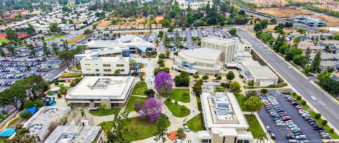 Citrus College bird's eyeview