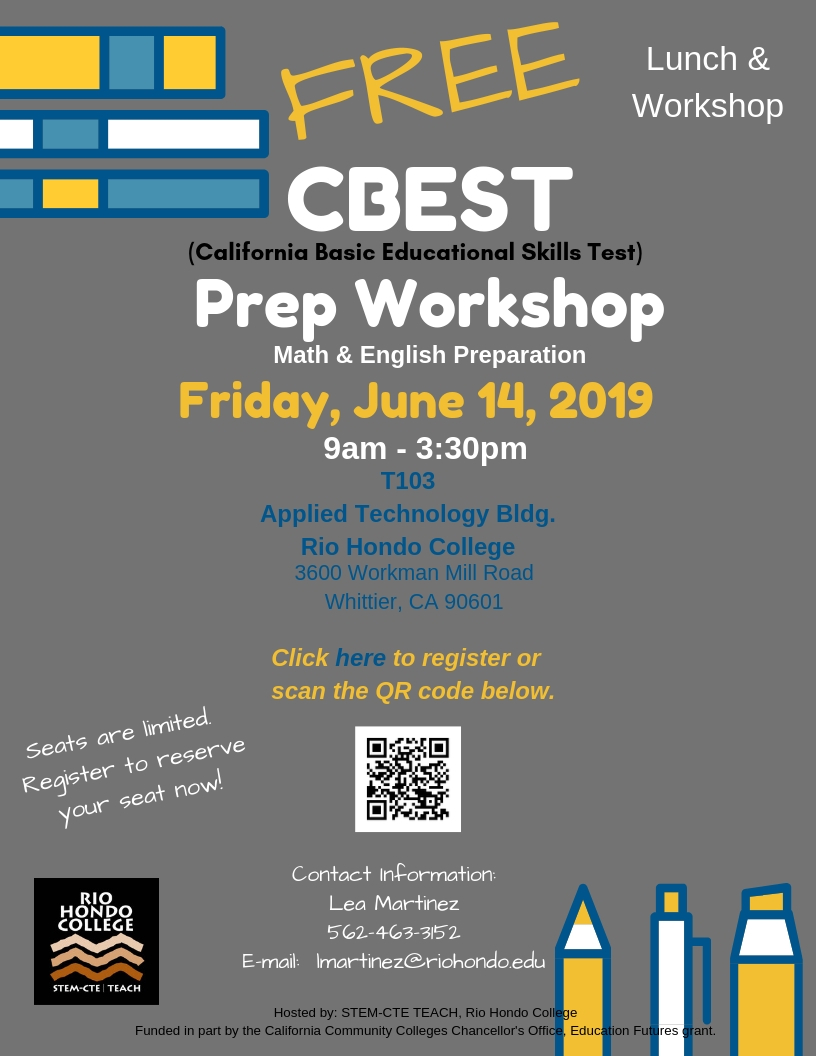 Free CBEST Workshop Hosted By Rio Hondo College