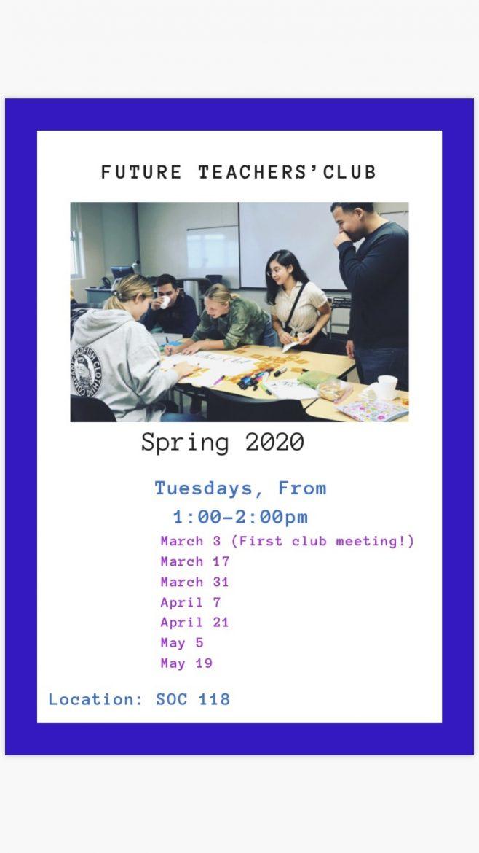 El Camino College – Future Teachers' Club – Spring 2020