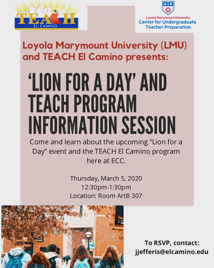 LMU And TEACH El Camino Present 'Lion For A Day'