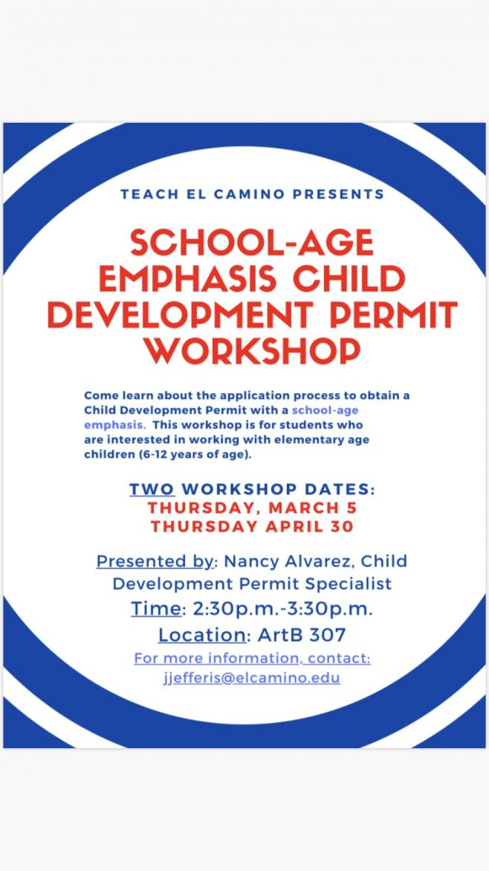 School-Age Emphasis Child Development Permit Workshop (2 Dates)