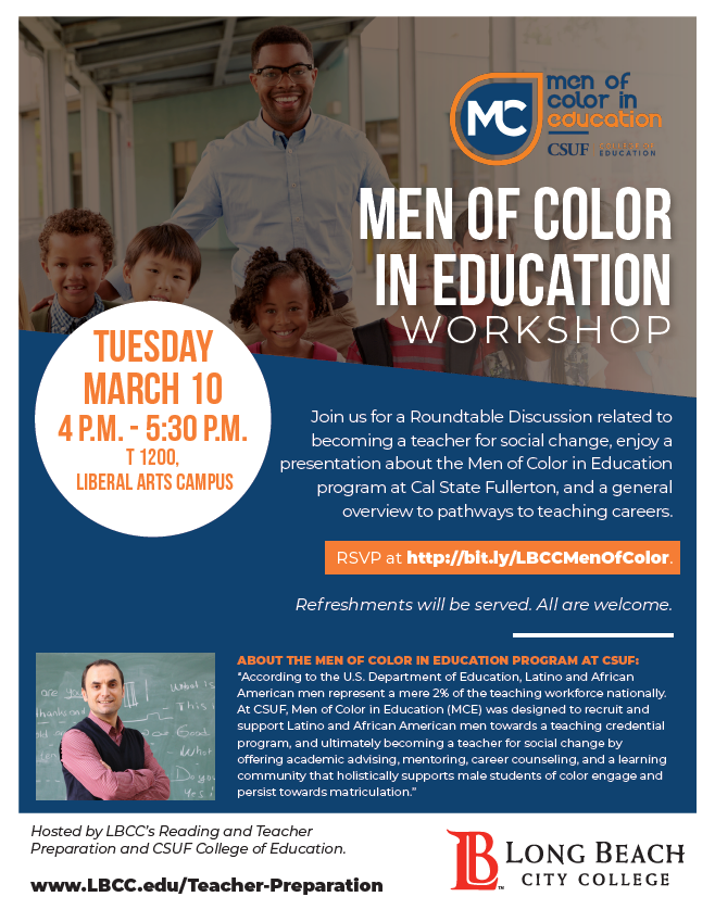 Men Of Color In Education Workshop And Discussion